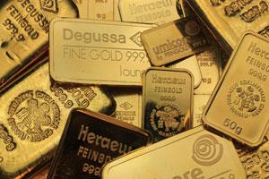 diverse Goldbarren