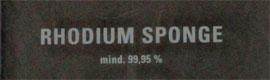 Rhodium verkaufen - Infos zur Ankaufsabwicklung