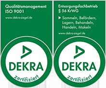 Dekra Siegel 9001 und Entsorgung