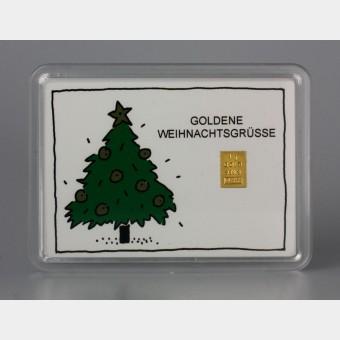 """10x Motiveinleger """"Goldene Weihnachtsgrüße"""""""