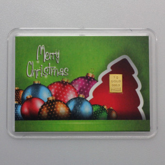 """10x Motiveinleger """"Merry Christmas (Kugeln)"""""""