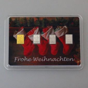 Quattro Preziosi 4 x 1g Weihnachten