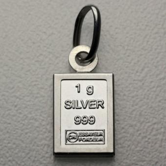 Silberbarren Anhänger 1g Silber