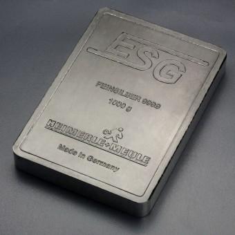 DIN-Silberbarren 1kg (999,9 Ag) ESG