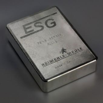 DIN-Silberbarren 5kg (999,9 Ag) ESG