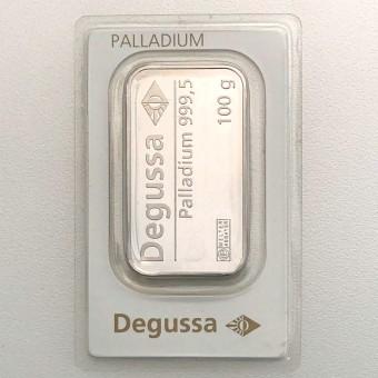 "Palladiumbarren 100g ""Degussa"""