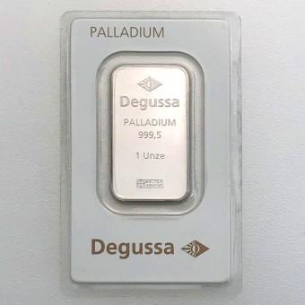"""Palladiumbarren 1oz """"Degussa"""""""