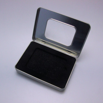 """Geschenk-Box """"eckig/Sichtfenster"""" (ca.12 x 9 cm)"""