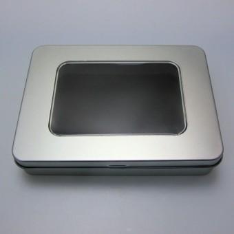 """Geschenk-Box """"eckig/Sichtfenster"""" (ca.15 x 11 cm)"""