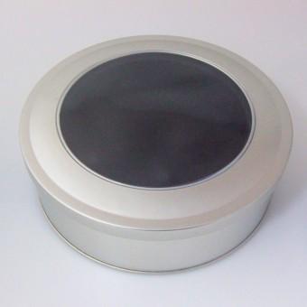 """Geschenk-Box """"rund/Sichtfenster"""" (Ø: ca. 14 cm)"""