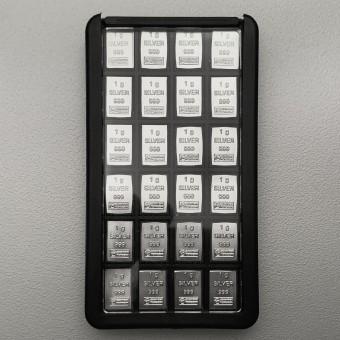 "Silber-Box (24x1g Ag) ""CombiPurse"" Edelmetall-Set"