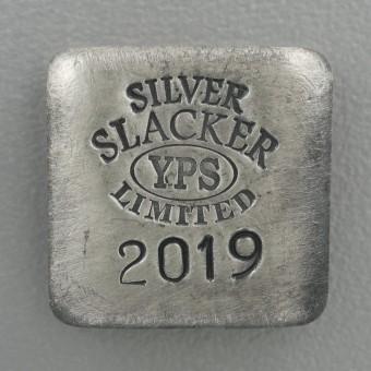"""Silber 3-D Barren """"Slacker"""" 1oz, gegossen"""