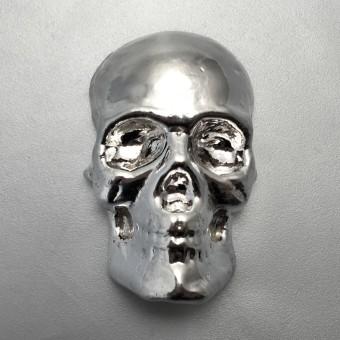 "Silber 3-D Barren ""Totenkopf"" 10oz, gegossen"
