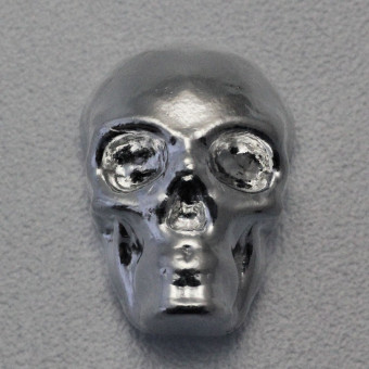 "Silber 3-D Barren ""Totenkopf"" 1oz, gegossen"