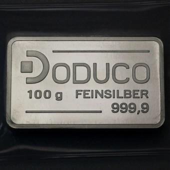 Silberbarren 100g Doduco
