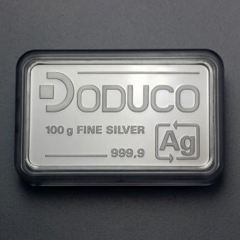 Silberbarren 100g Doduco in Kapsel