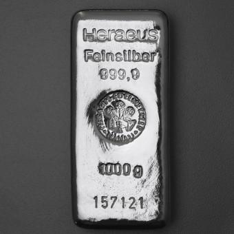 Silberbarren 1kg/1000g Heraeus