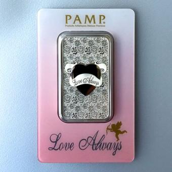 """Silberbarren 1oz """"Love Always"""" Pamp"""