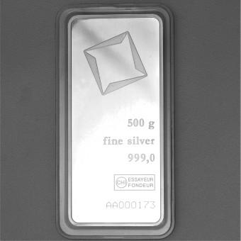 Silberbarren 500g Valcambi