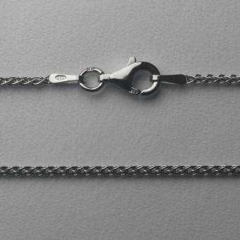 "Silberkette 925er/42 cm ""Zopf-Form"" (Sterling)"