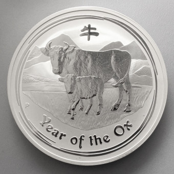 "Silbermünze 10oz ""2009 Ochse"" Lunar II"