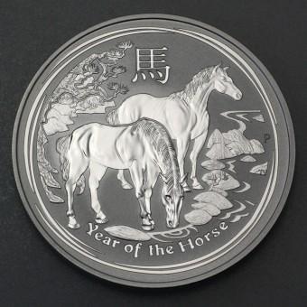 "Silbermünze 10oz ""2014 Pferd"" Lunar II"