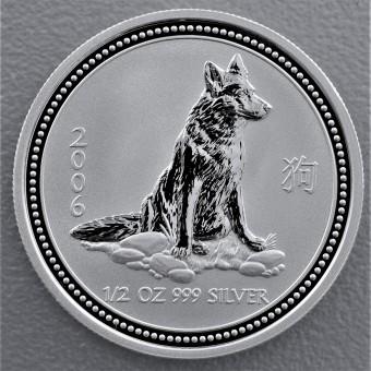 "Silbermünze 1/2oz ""2006 Hund"" Lunar I"