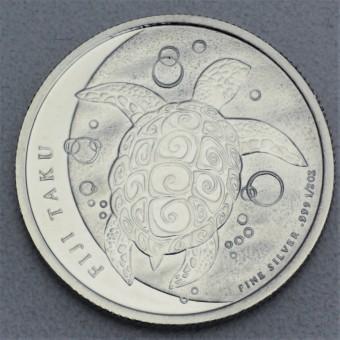 """Silbermünze 1/2oz """"Fiji Taku Turtle 2013"""""""