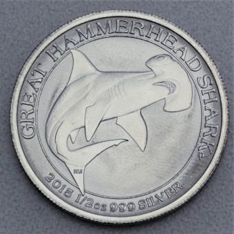 "Silbermünze 1/2oz ""Hammerhead-Shark 2015"""