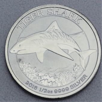 "Silbermünze 1/2oz ""Tiger-Shark 2016"""