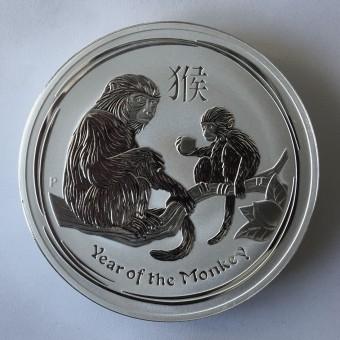 """Silbermünze 1kg """"2016 Affe"""" Lunar II"""
