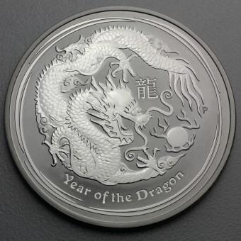 """Silbermünze 1oz """"2012 Drache"""" Lunar II"""