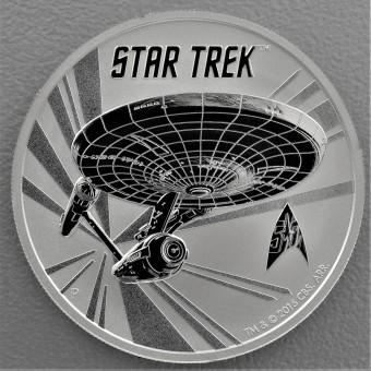 """Silbermünze 1oz 2016 """"Star Trek Enterprise"""""""