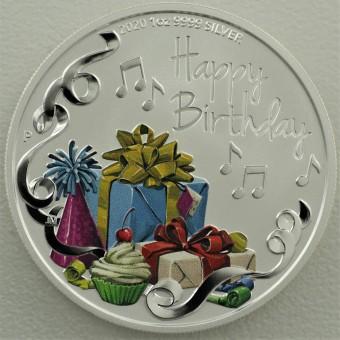 "Silbermünze 1oz 2020 ""Happy Birthday"" Perth Mint"