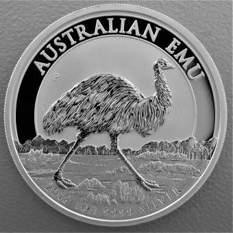 "Silbermünze 1oz ""Australian Emu 2018"""