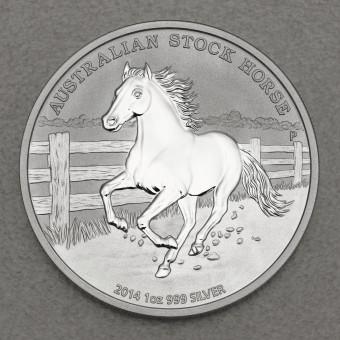 """Silbermünze 1oz """"Australian Stock Horse 2014"""""""
