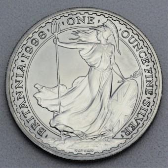 "Silbermünze 1oz ""Britannia 1998"""