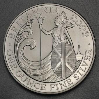 "Silbermünze 1oz ""Britannia 2008"""
