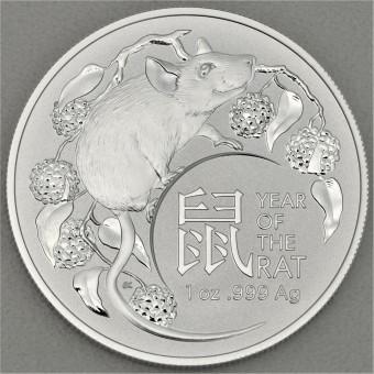 """Silbermünze 1oz """"Jahr der Ratte 2020"""" RAM"""