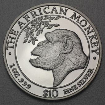 """Silbermünze 1oz """"Somalia Monkey 1998"""""""