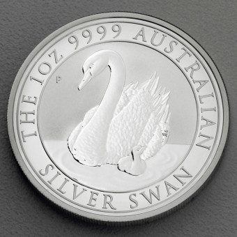 "Silbermünze 1oz ""Swan/Schwan 2018"" (Australien)"