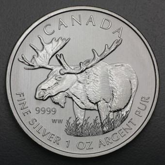 "Silbermünze 1oz ""Wildlife Kanada - Elch 2012"""