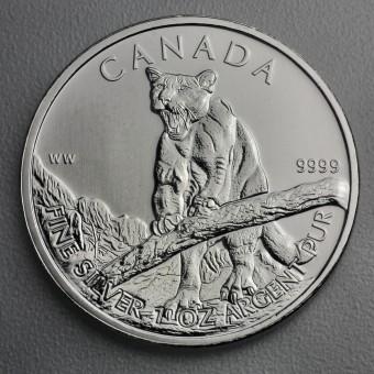 """Silbermünze 1oz """"Wildlife Kanada - Puma 2012"""""""