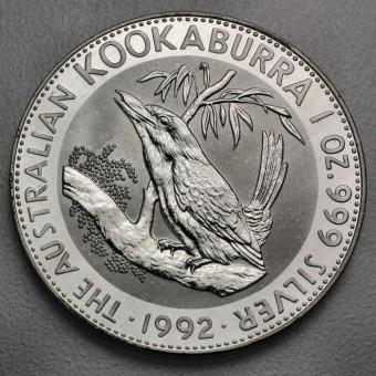 """Silbermünze """"Kookaburra - 1992"""" 1oz"""