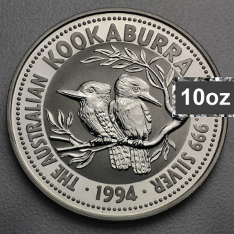 """Silbermünze """"Kookaburra - 1994"""" 10oz"""
