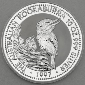 """Silbermünze """"Kookaburra - 1997"""" 10oz"""