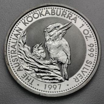"""Silbermünze """"Kookaburra - 1997"""" 1oz"""