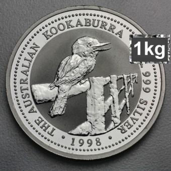 "Silbermünze ""Kookaburra - 1998"" 1kg"
