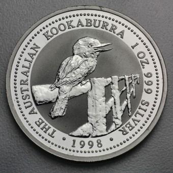 """Silbermünze """"Kookaburra - 1998"""" 1oz"""