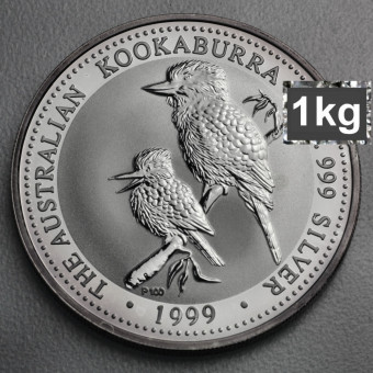 "Silbermünze ""Kookaburra - 1999"" 1kg"